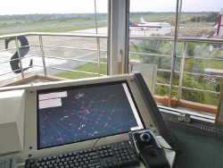 Ganesha avionics supadio tower HMI. In background: both infamous SJY aircrafts.